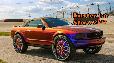 Cars With Big Rims : Easter Car Show 2k17 In Hd (must See) (lifted Trucks, Big