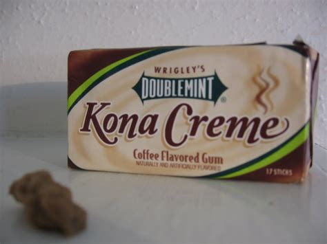 The gum will come in four varieties in the campaign: news you can eat: Wrigley's Doublemint Kona Crème coffee gum