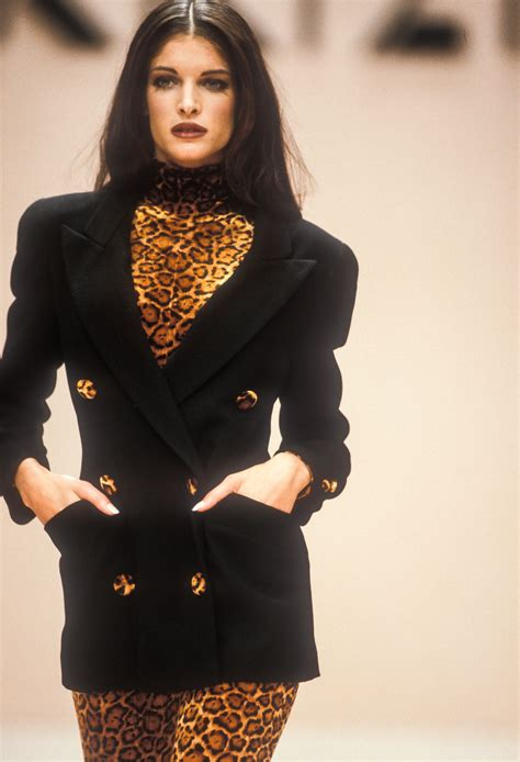 Stephanie Seymour Krizia Ready Wear Fall Winter