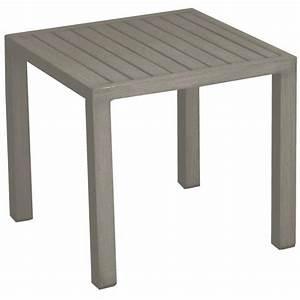 Table De Jardin Aluminium Jardiland : table basse de jardin lou en aluminium couleur taupe ~ Melissatoandfro.com Idées de Décoration