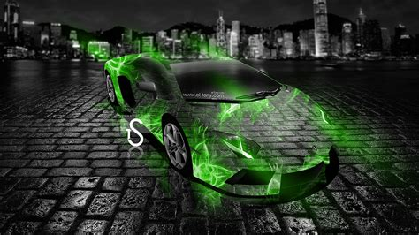 lamborghini aventador crystal abstract car  el tony