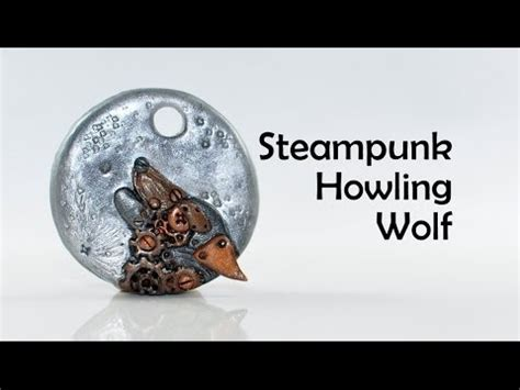 pate fimo tuto animaux steunk clockwork howling wolf polymer clay tutorial