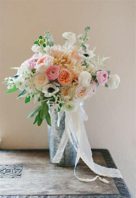 Loose Bridal Bouquet Of Café Au Lait Dahlias White
