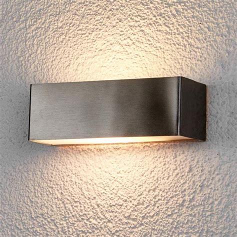 led buitenwandlamp alicja van roestvrij staal buiten wandverlichting staal en buitenlampen