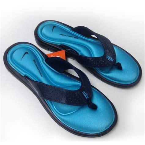 nike comfort flip flops womens nike comfort womens 354925 444 obsidian blue sandals