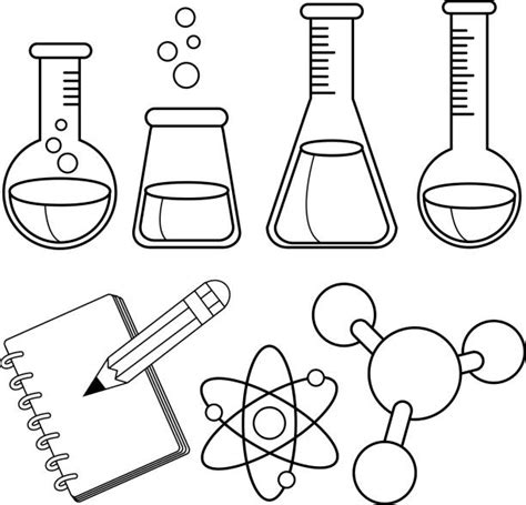 warm chemistry coloring pages royalty  clip art vector