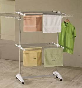 Bettwäsche Trocknen Wäscheständer : luxus e2 w schest nder one click w scheturm 2 ebenen mit ~ Michelbontemps.com Haus und Dekorationen