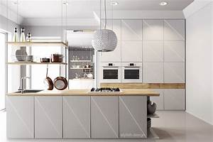 white kitchen with wood - Kitchen and Decor