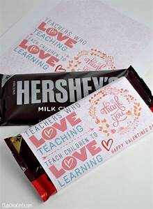 Teacher appreciation valentine39s day chocolate bar free for Valentine candy bar wrapper templates