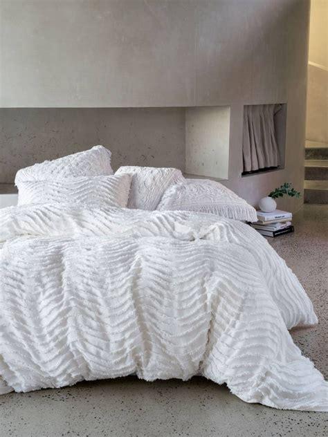 chenille duvet cover drift white quilt cover set modern chenille contemporary
