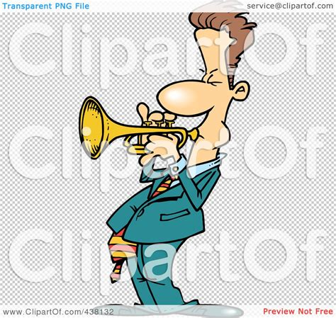 Cartoon Trumpet Player