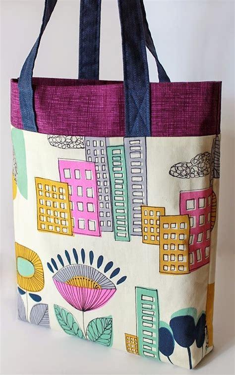 tri color ten step tote bag pattern allfreesewingcom