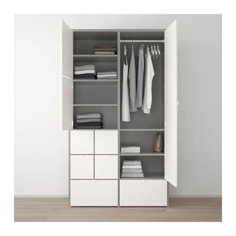 Ikea Shop Arbeitszimmer by Visthus Kleiderschrank Grau Wei 223 Wohnen Ikea