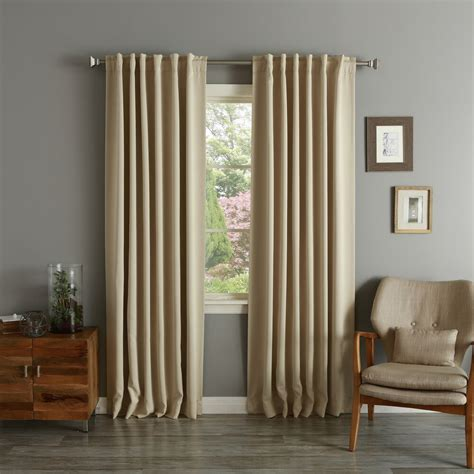 At Home Drapes by Home Solid Insulated Thermal Blackout Curtain Panel