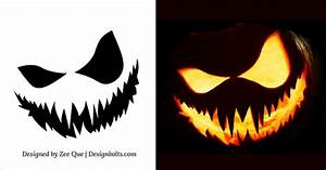 Easy, Scary, Pumpkin, Carving, Stencils