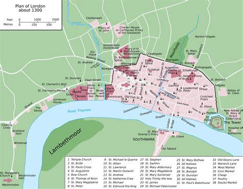 The map is very easy to use: Mittelalterliche London map - Karte des mittelalterlichen ...