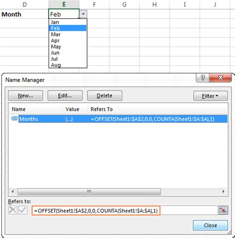 offset function  excel formula examples