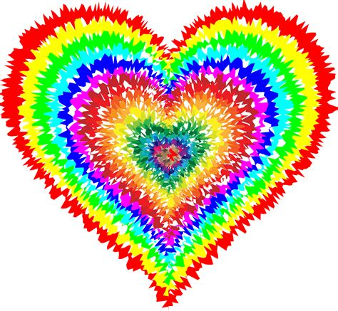 Clipart Tie Dye Heart Look At All The Pretty Colors
