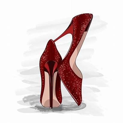 Heels Vector Shoes Shiny Premium Save