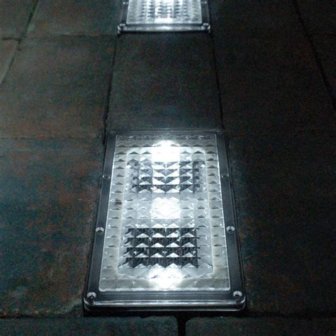 solar brick lights paverlight solar brick lights set of 2