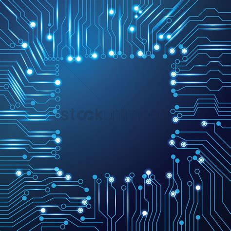 circuit board design chip design on circuit board wallpaper vector image