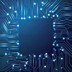Chip design on circuit board wallpaper Vector Image ...