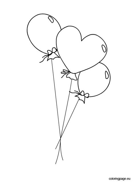 balloons coloring picture coloring page