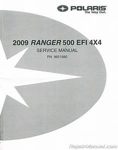 2009 Polaris Ranger 4x4 500 Efi Service Manual