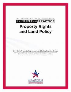 Principles into Practice: Property Rights and Land Policy ...