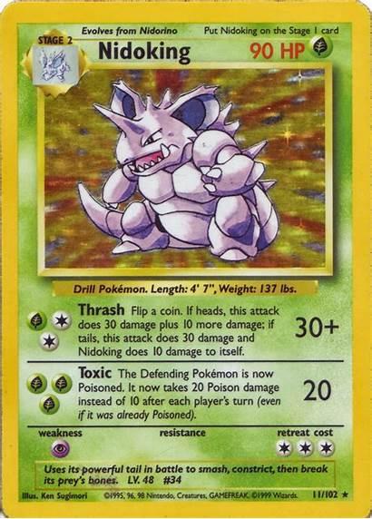 Nidoking Base Pokemon Card Cards Pocket Monsters