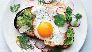 Fried Egg on Toast with Salted Herb Butter and Radishes ...
