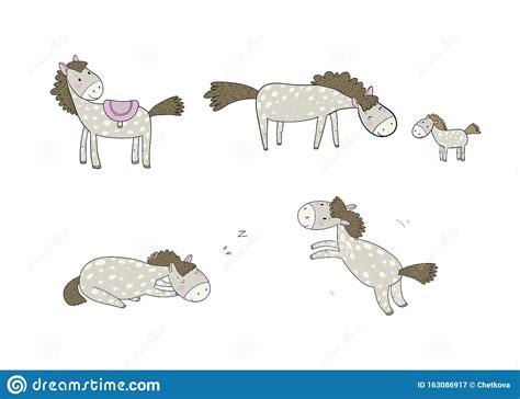 Welcome funny farm sign country western door decor crazy. Cute Cartoon Horse. Farm Animals. Funny Pony Stock Vector ...
