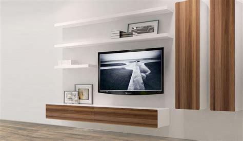 shelves tv 21 floating media center designs for clutter free living room Floating