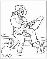 Coloring Spain Spanish Pages Guitar Colouring Sheet Adults Romans Popular Coloringhome Library Clipart 864px 37kb Template sketch template