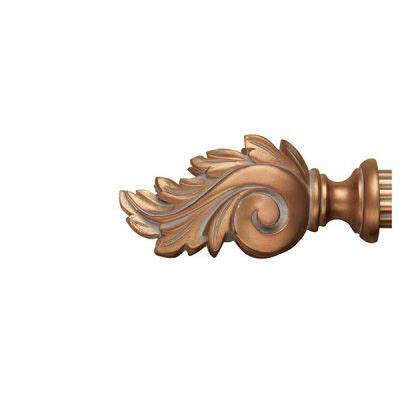 chaumont wooden curtain rod finials drapery