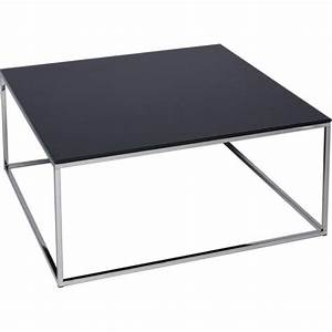 buy black glass and metal square coffee table from fusion With silver square coffee table