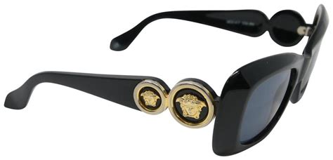 Versace Black Signature Gianni Vintage 90's Mod 417 Double