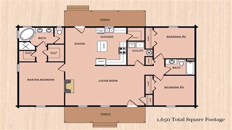 House Plans 3 Bedroom 1500 Sq Ft