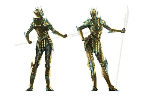 Concept Art Of Female Glass Armor From The Elder Scrolls V