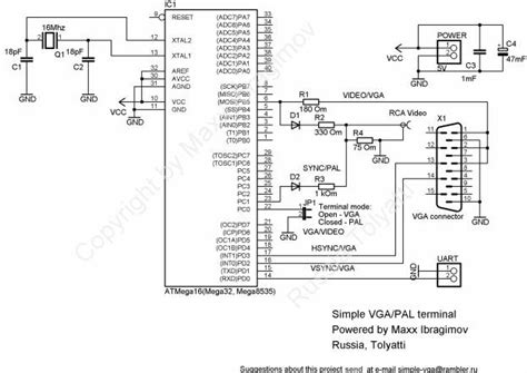 Hdmi To Vga Schematic by Simple Vga Adapter With Atmega Avr