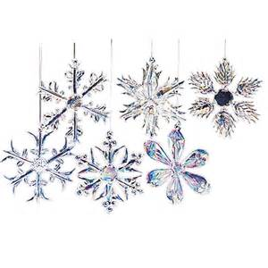 glass crystal snowflake ornaments
