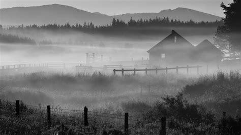 fog oregon morning house ranch wallpaper 1920x1080 200842 wallpaperup