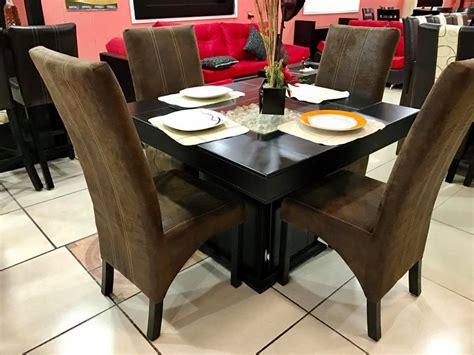 comedor  sillas moderno chocolate gran fabrica de muebles