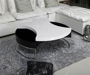 Table Basse Noir Et Blanc Ou Laquee Noire Et Blanche
