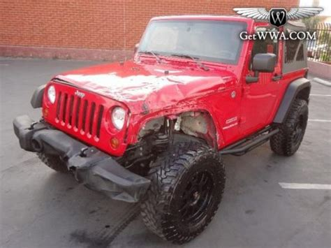crashed jeep wrangler buy used salvage 2012 jeep wrangler sport automatic