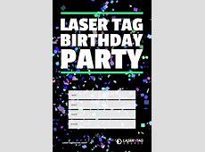 Einladung Lasertag Ausdrucken Geburtstagseinladungen Zum