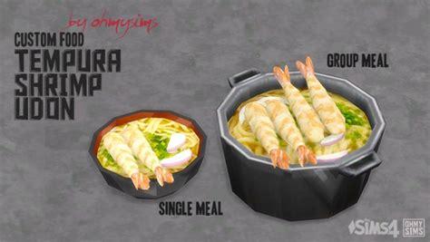 Mod The Sims Tempura Shrimp Udon Custom Food By Ohmysims