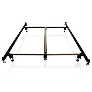 Bed Frame With Footboard Brackets by Greenhome123 Sturdy Steel 6 Leg Metal Bed Frame With