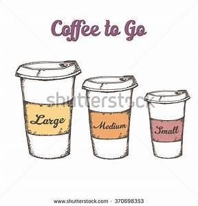 Hand Drawn Set Three Cup Coffee Stock Vector 370698353 ...