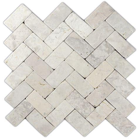 herringbone mosaic cream herringbone stone mosaic tile pebble tile shop